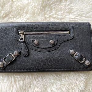 Balenciaga Classic Grey City Wallet